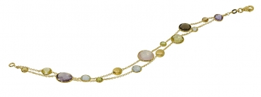 Farbsteinarmband in 585 Gold 372097191