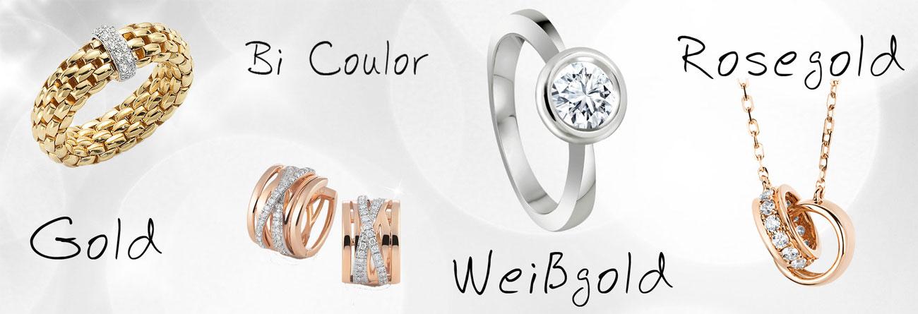 Weißgold farbe  Schmuck in Gelbgold, Weissgold, Rosegold online kaufen ...